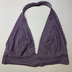 Me to We Purple Halter Lace Bralette
